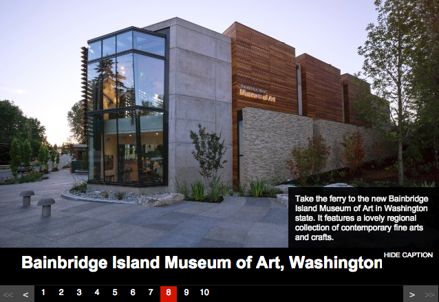 Bainbridge Island Museum of Art is one of America's Best Small Town Museums